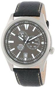 Orient-Men-039-s-Defender-Multi-Function-Stainless-Steel-amp-Leather-Watch-FET0N002K0