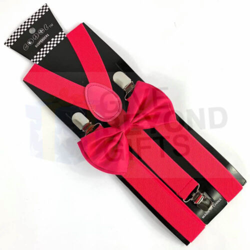 Suspender and Bow Tie Adult/'s Men Combo Hot Pink Formal Wear Accessories