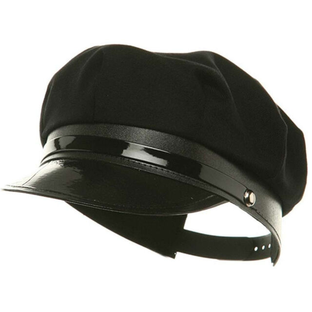 Police Costume Hat Chauffer Cap Black Limo Driver Police Chaffeur Cop Accessory