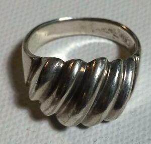 925 Sterling Silver SPIRAL Ring SZ 8.5