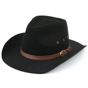 Caricamento dell immagine in corso Cappello-da-Cowboy-Hawkins-Nero -Beige-Largo-con- ecae3278c75d