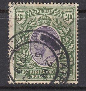 KUT-EAST-AFRICA-amp-UGANDA-3R-POSTAGE-STAMP-SG55-GOOD-USED-VIOLET-amp-GREEN
