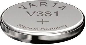2 Varta Watch V 381 / SR1120 SW Primär Silber Uhrenbatterien Blister