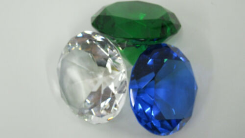 Wedding Table Candle Display Christmas BLUE Crystal Jewel DIAMOND Paperweight