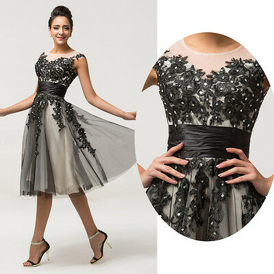 Masquerade Quinceanera Formal Prom Party Ball Gown Short Cocktail Evening Dress