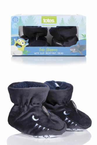 Boys 1 Pair Totes Animal Padders Slipper Socks