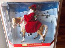 2004 Breyer Father Christmas & Glittery 8th Holiday Horse Gold Marabella & Doll