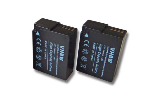 DMW-BLC12E 2x KAMERA Akku BATTERIE 1000mAh für PANASONIC Lumix DMW-BLC12