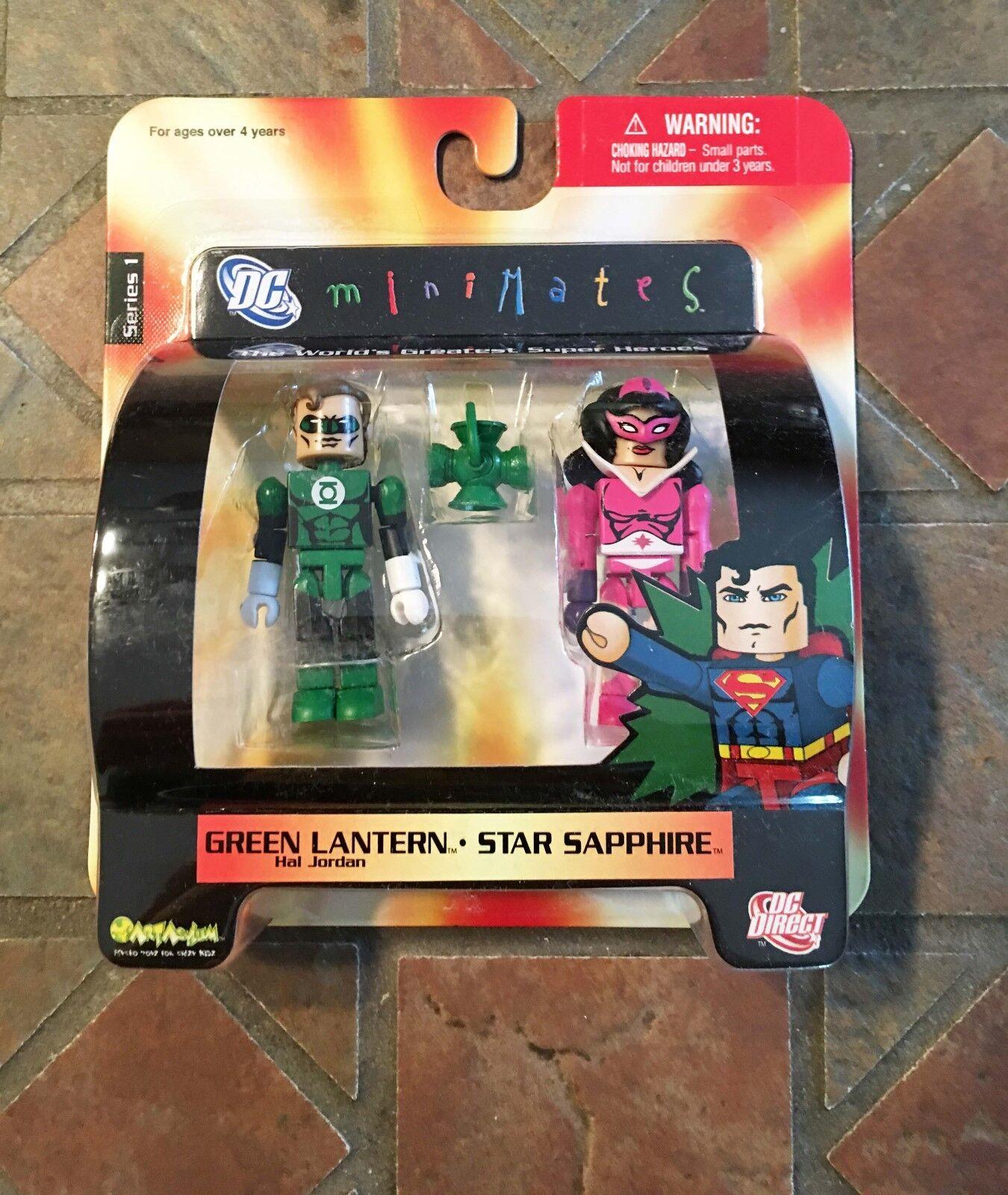 Dc Minimates Hal Jordan Grün Lantern & Stern Saphir Serie 1 Justice League