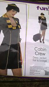 BNIP-Ladies-fancy-dress-Cabin-Crew-Airline-size-XS