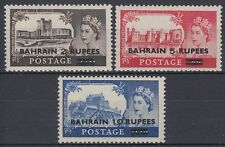 Bahrein 1955 ** mi.96/98 SG 94/96 Type I risolutivo Castles ovpt. on GB [b458]