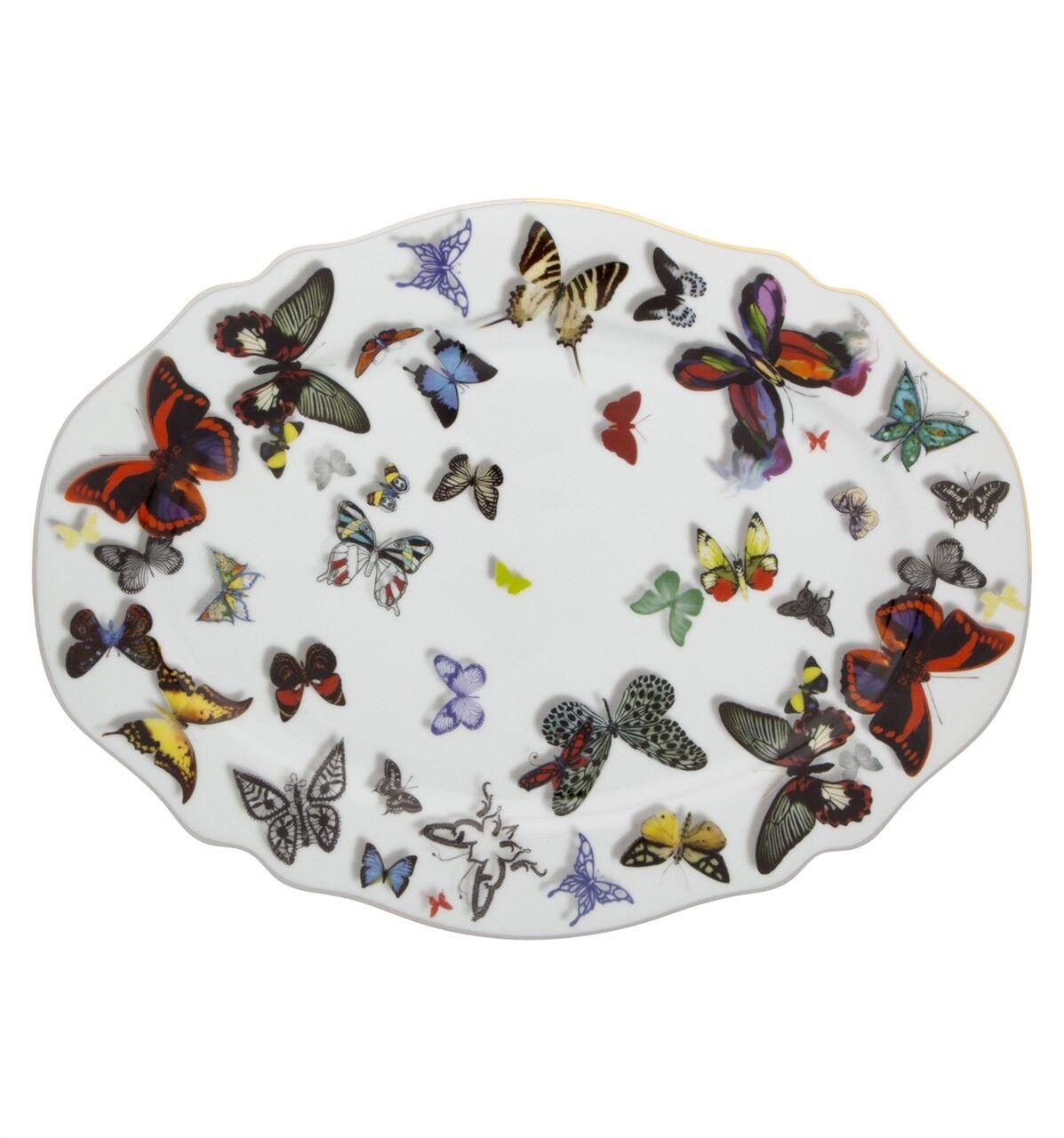 Vista Alegre Papillon Parade Petit Plateau Ovale - Set de 2