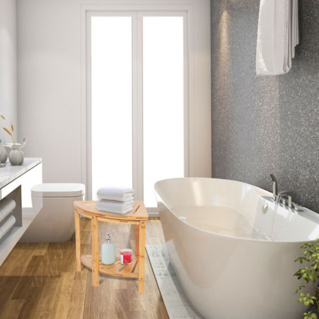Ollieroo Bamboo Shower Bench Seat