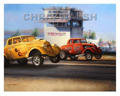 Drag Racing action prints - Brasher & Cummings vs Souza Bros. & Dad