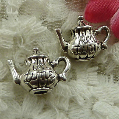 free ship 105 pieces Antique silver teapot charms 16x12mm #2361