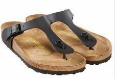 NEW BIRKENSTOCK Black  Gizeh T strap Thongs  SANDALS Size EUR 38  US  Womens 7