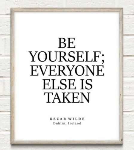 Be Yourself Oscar Wilde Typography Print Poster Unframed Home Quote Gift Inspire