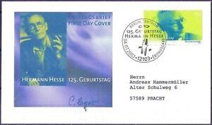 BRD-2002-Hermann-Hesse-FDC-der-Nr-2270-mit-Berliner-Stempel-Gelaufen-1912