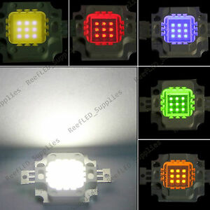 1-5-10Pcs-10W-LED-Chip-Marine-Tank-Aquarium-Grow-light-White-Blue-Red-Green-Yel