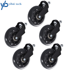 New Listingset Of 5 Office Chair Caster Rubber Swivel Wheels Replacement Heavy Duty 3 Inch