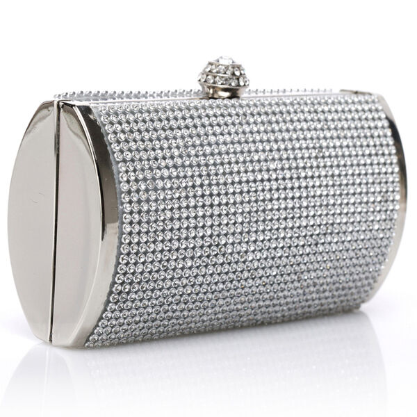 Ladies Woman Girl Diamante Party Evening Clutch Wedding Hand Bag Prom Purse New