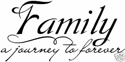 Family Journey Vinyl Sticker Decal wall QUOTE Decor