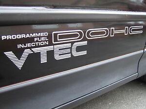 x2 JDM DOHC VTEC Door Decals for Honda Civic/CRX siR FREE P&P