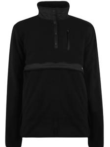 Gio-Goi-Button-Up-Fleece-Jacke-Top-Herren-Schwarz-Pullover-UK-Groesse-S-small-ref143
