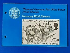 GB Guernsey Set of 4 Mint Stamps Presentation Pack 1972 Wild Flowers