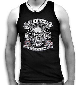 Biker-Ace-USA-Lucky-7-Seven-Mens-Sleeveless-Muscle-Tank-Top-Vest-Sm-2XL