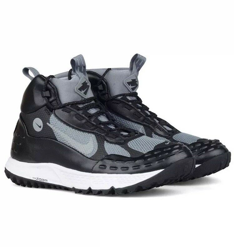 Size 8.5 NIKE Air Zoom Sertig '16 Hiking Black Grey Sneaker Boots Training shoes