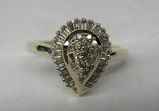 10K .40 CT. DIAMOND PEAR SHAPE SHAPED RING