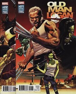 old man logan 21 24 marvel comics wolverine past lives greg land
