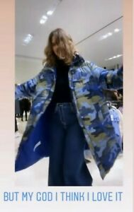 ZARA-SOLD-OUT-BLUE-CAMOUFLAGE-PRINT-QUILTED-COAT-SIZE-M-8073-836-RECYCLED