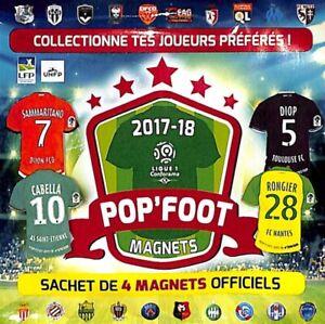 MAGNET -  LFP - UNFP - OFFICIELS -  POP' FOOT - 2017 / 2018 - a choisir