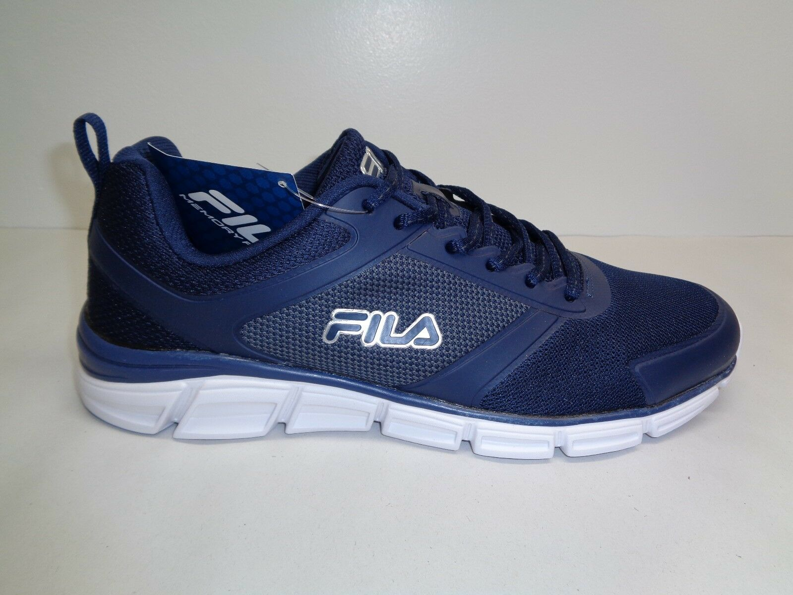Fila Size 10 MEMORY STEELSPRINT Blue Training Athletic Sneakers New Mens Shoes