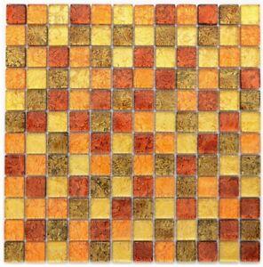 Mosaico-piastrella-traslucida-VETRO-MOSAICO-Crystal-Oro-Arancione-struttura-120-07814-b