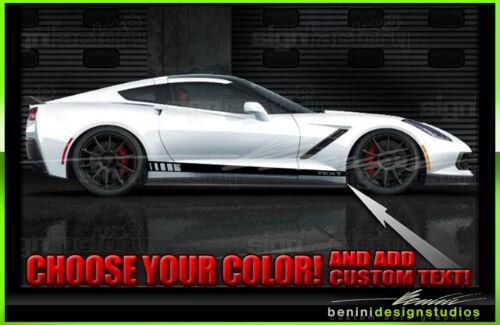 2014 2015 2016 2017 Chevy C7 Corvette Side Rocker Door Stripe Decal Graphics #1