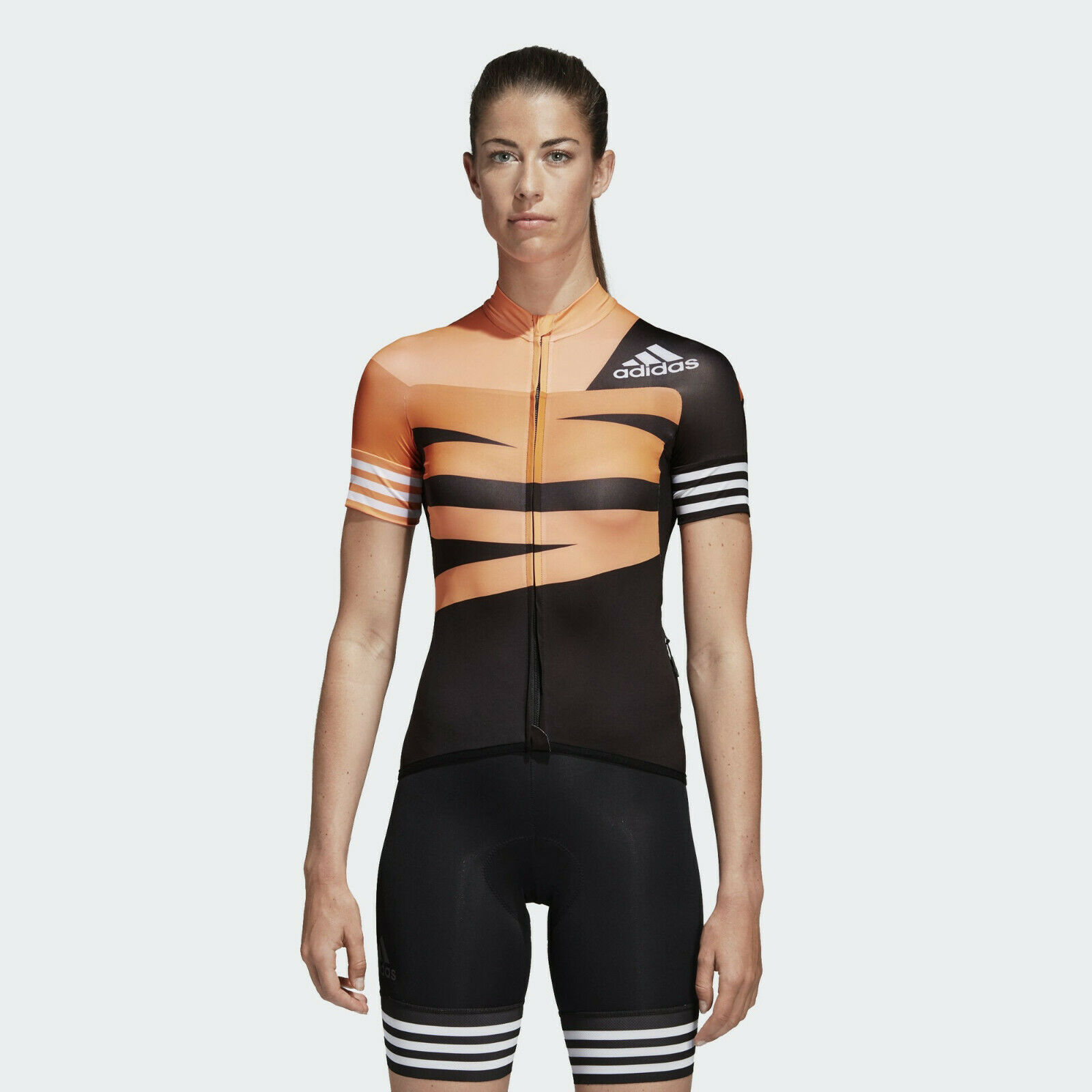 Adidas Adistar Jsk Grafico W [ Tgl M ] Donna Bici da Corsa Maglia CV6692 Nuovo &