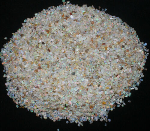 NATURAL GEMSTONE ETHIOPIAN OPAL UNDRILLED POLISHED ROUGH CHIPS SIZE 3to4.5MM #1