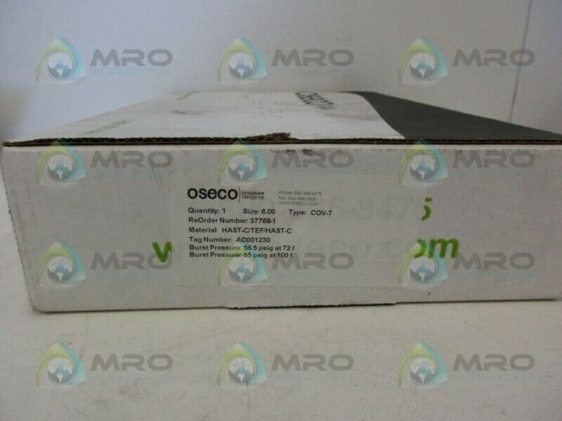 OSECO 37768-1 RUPTURE DISC NEW IN BOX