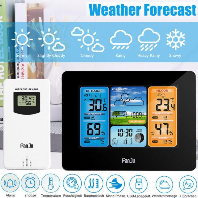 Funk Thermometer Digital mit Touch-Screen und 1 Aussensensor Oregon