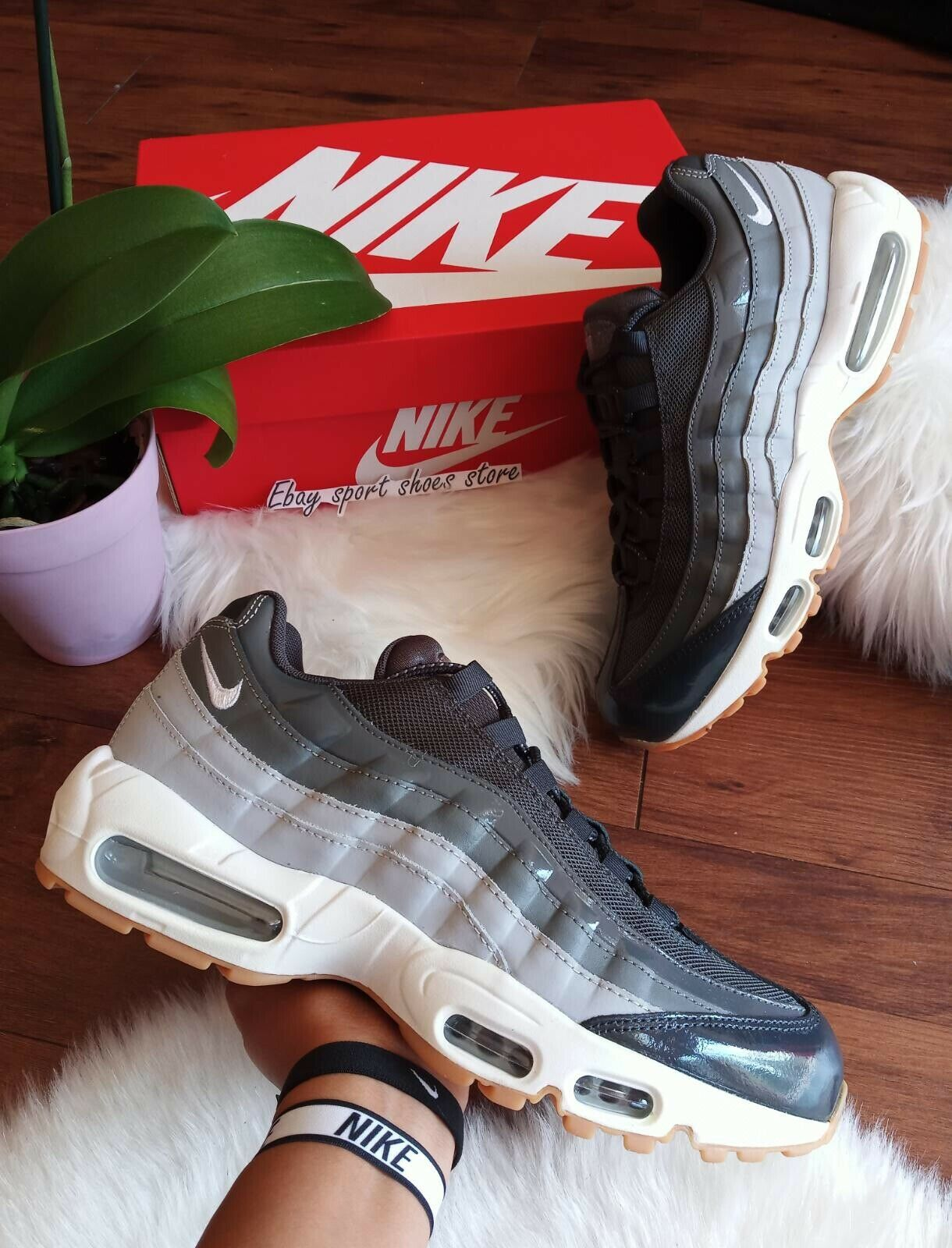 11 Femme   9.5 Hommes NIKE AIR MAX 95 Wolf gris 307960 012 Athletic chaussures