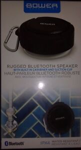 Details about Bower Innovations Rugged Bluetooth Speaker w/built-in  carabine & suction cup