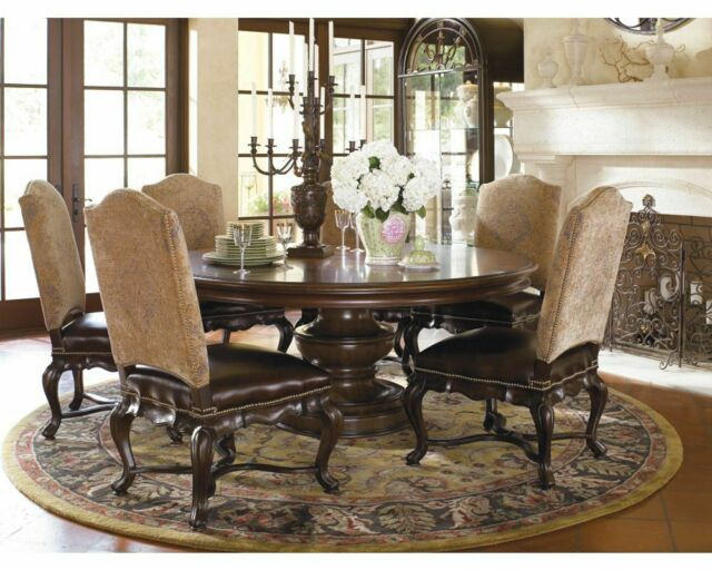 Thomasville Hills Of Tuscany 7 Pc Dining Set 72 Round Table W 6 Bibbiano Chair