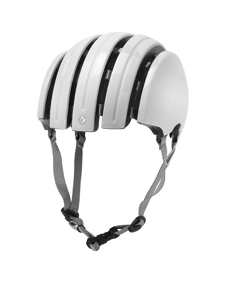 voiturerera Helmets Basic Foldable Helmet - Gloss blanc, Medium grand 58-61cm