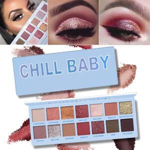 14-Colores-Paleta-de-Sombra-de-Ojos-Brillo-Mate-Brillo-Polvo-Cosmeticos-Maquillaje-Set