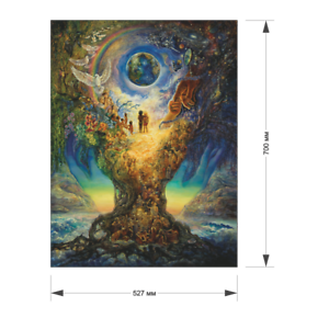 "wooden puzzle /""Millenium tree/"" 1100 pcs Human history"