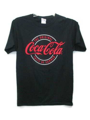 Coca-Cola Black T-shirt Tee Size XL X-Large Taste of Summer  100/% Cotton