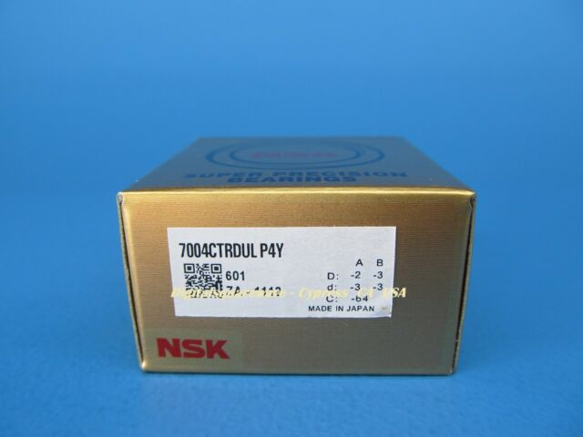 NSK 7004CTRDULP4Y  Abec-7 Super Precision Spindle Bearings. Set of Two